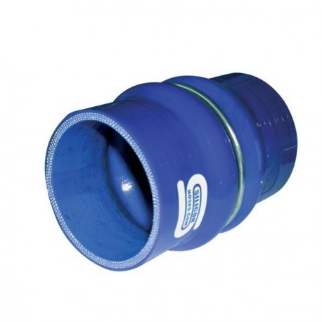 Acoplador Flex Silicona Silicon Hoses 80mm Longitud 100mm Azul