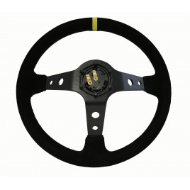 Volante RMS Rally caliz 90mm Piel de gamuza