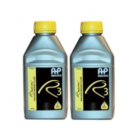 Pack 2 Líquido de Frenos DOT 4 AP RACING R3 AP 660 500ml 204/325°C