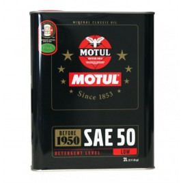 Aceite Motor Motul Classic 2L SAE 50 Mineral