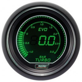 Manómetro Digital Pro-Sport Presión Turbo 52mm -1 a 3B Verde/Blanco