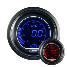 Manómetro Prosport Presión Turbo Digital Diámetro 52mm -1 - +2 Bars